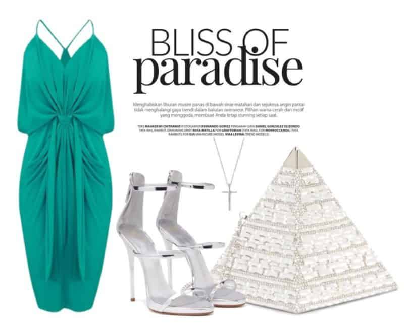 Emerald & Silver Evening Style