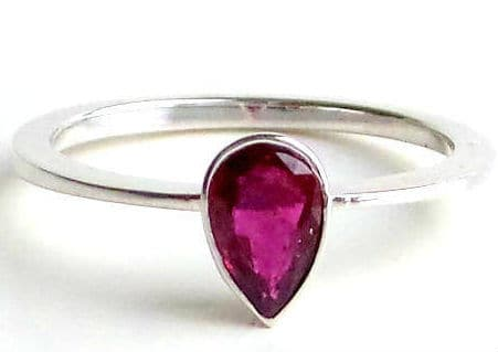 Pear Ruby Ring. BUY NOW!!! #BevHillsMag #fashion #shopping #shop #style #beverlyhills #jewelry