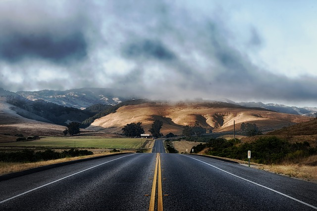 Long Road In The Midst of California Sky