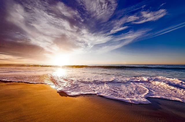 Beautiful California Sunset Ocean View on The Beach