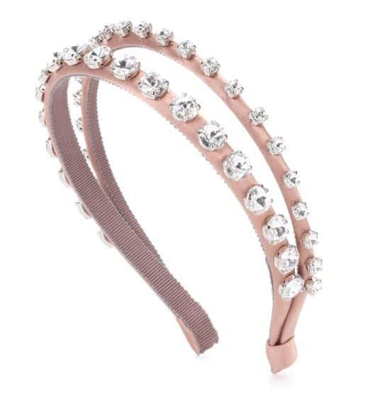 Miu Miu Crystal Embellished Headband. BUY NOW!!! #jewelry #shop #jewels #earrings #fashion #style #beverlyhills #beverlyhillsmagazine #bevhillsmag