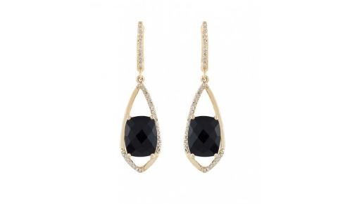 Onyx Diamond Earrings. BUY NOW!!! #beverlyhills #beverlyhillsmagazine #bevhillsmag #shop #shopping #jewelry