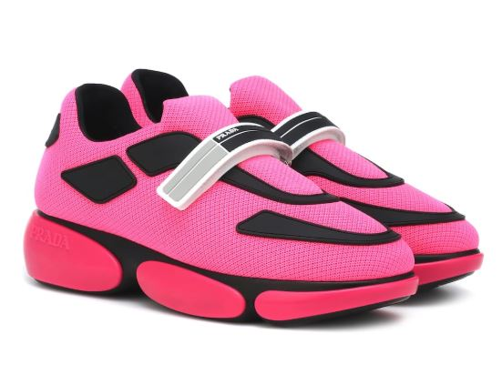Pink PRADA Fitness Sneakers. BUY NOW!!! #shop #fashion #style #shop #shopping #clothing #beverlyhills #fitness #shoes #sneakers #clothes #beverlyhillsmagazine #bevhillsmag