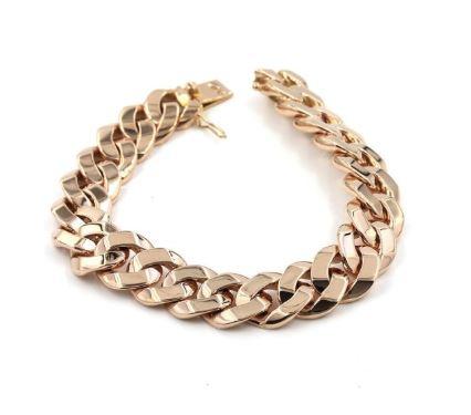 Rose Gold Link Bracelet For Men. BUY NOW!!! #fashion #style #shop #shopping #clothing #beverlyhills #dress #shoes #boots #beverlyhillsmagazine #bevhillsmag #styleformen #manstyles #guystuff #giftsforhim #stylesformen #gold #jewelry #bracelets