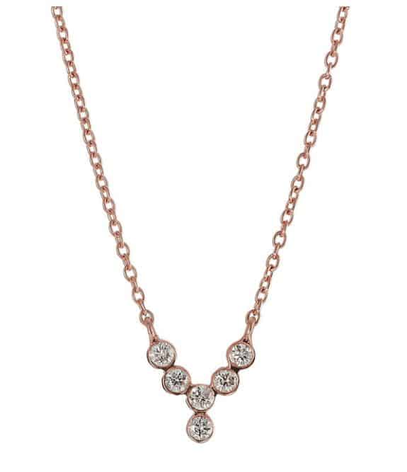 Yannis Sergakis Rose Gold Diamond Necklace. BUY NOW!!! #beverlyhills #watches #shop #jewelry #necklace #rings #earrings #bevhillsmag #bevelryhillsmagazine