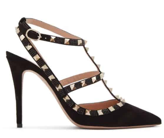 Black And Gold Studded Valentino High Heels. BUY NOW!!! #shop #fashion #style #shop #shopping #clothing #beverlyhills #dress #shoes #boots #beverlyhillsmagazine #bevhillsmag #handbags #purses #bags #jewelry #jewellery #rings #diamonds #diamond #ring #highheels #shoes #shopstyle
